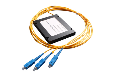 1x2 Box Type FBT Splitter with output fiber and connector for FTTX
