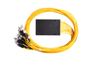1x8 Box Type PLC Splitter with output fiber and connector for FTTX