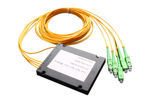 1x4 Box Type PLC Splitter with output fiber and connector for FTTX