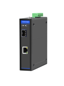 Industrial Ethernet Switch, 1 x 10/100/1000M Base-TX + Uplink 1 x 100/1000M Base-FX SFP