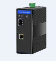 Industrial Ethernet Switch, 1 x 10/100M Base-TX + Uplink 1 x 100M Base-FX SFP