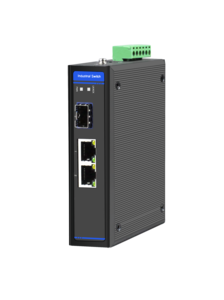 Industrial Ethernet Switch, 2 x 10/100M Base-TX + Uplink 1 x 100M Base-FX SFP