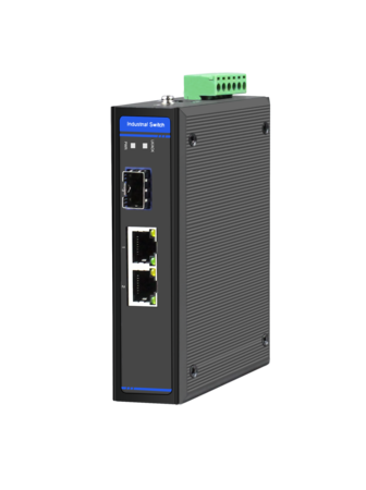 Industrial Ethernet Switch, 2 x 10/100/1000M Base-TX + Uplink 1 x 100/1000M Base-FX SFP