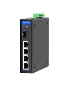 Industrial Ethernet Switch, 4 x 10/100M Base-TX + Uplink 1 x 100M Base-FX SFP