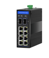 Industrial Ethernet Switch, 8 x 10/100/1000M Base-TX + Uplink 2 x 100/1000M Base-FX SFP